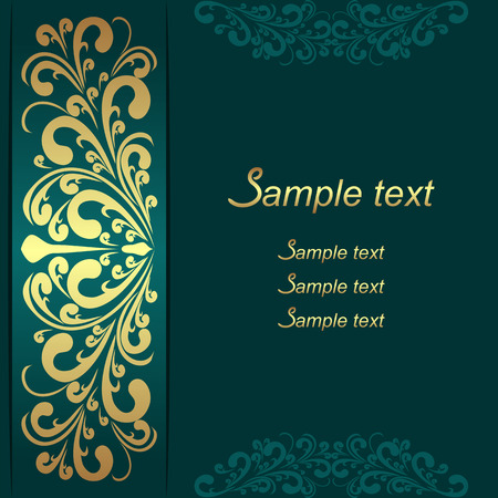 Luxury Background with ornamental Border for invite design Illustration