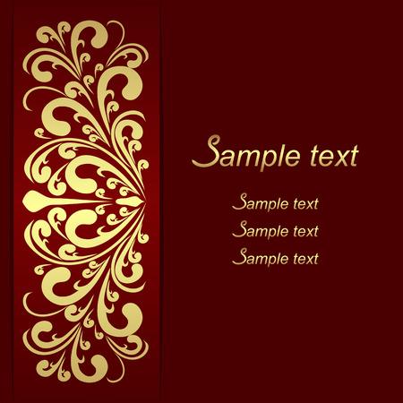Luxury Background with ornamental golden Border - invite design