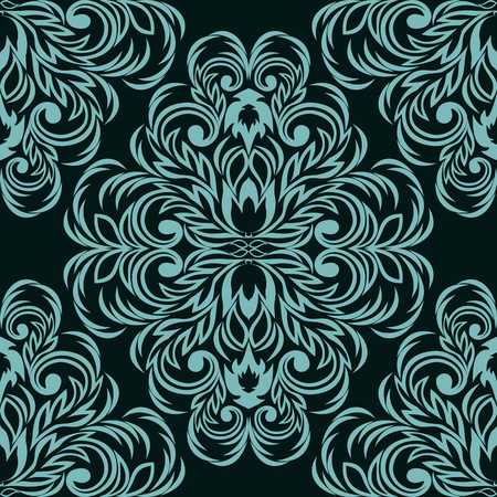 Seamless damask floral Ornament