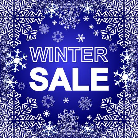 Winter Sale on a blue Background. Illustration