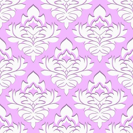 Seamless volumetric damask Wallpaper.