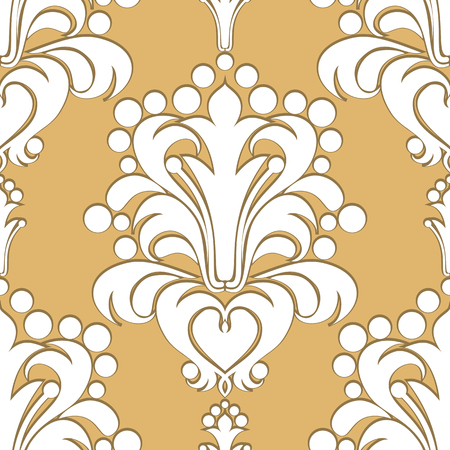 seamless damask: Seamless damask Pattern with volumetric Ornament