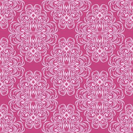 Seamless floral pink Wallpaper for design