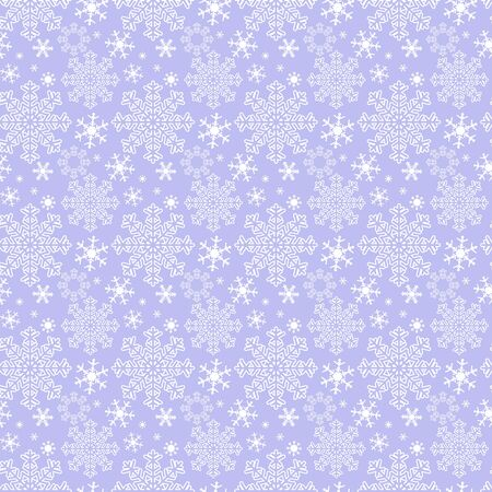 Seamless winter blue Wallpaper with Snowflakes Illustration