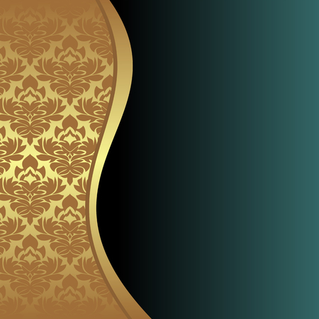 regency: Elegant Background with ornamental Border and place for your text. Illustration