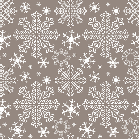 Seamless abstract Pattern with Snowflakes. Illustration