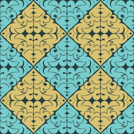 Seamless ornamental Pattern - combination of the two colors Illustration