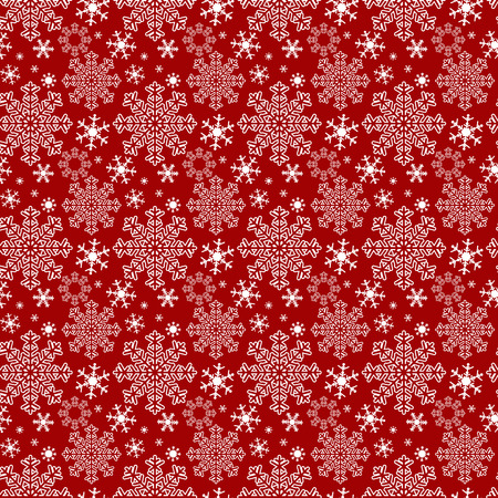 Seamless red winter Wallpaper with Snowflakes Illustration