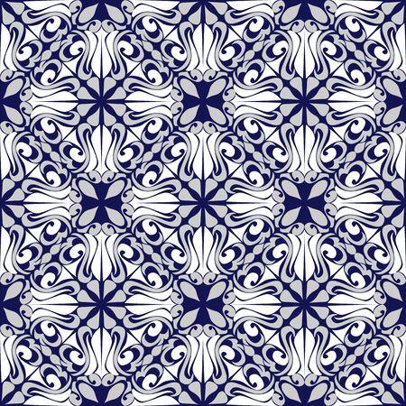 Seamless ornamental Pattern on blue - combination Colors Illustration