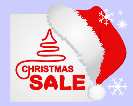 Christmas Sale on the White Frame with Santas Cap