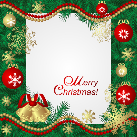 Christmas bright Frame with Place for Text
