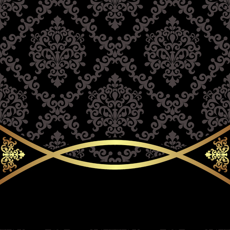 Luxury damassk Background with elegant  Border for Place for Text