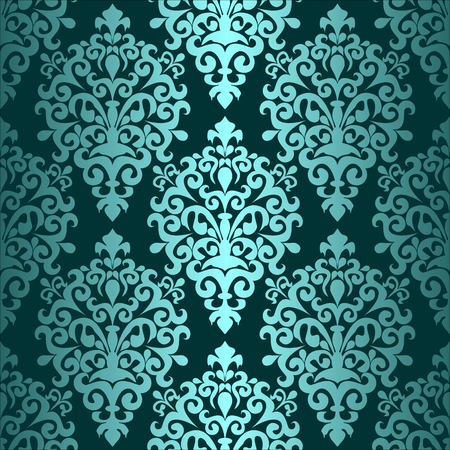 Turquoise seamless ornamental Pattern for Design Illustration