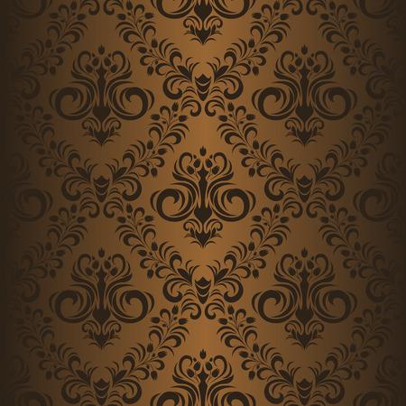Seamless ornamental brown Wallpaper Illustration