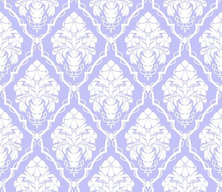 Seamless damask ornamental Wallpaper with flowers Bouquet