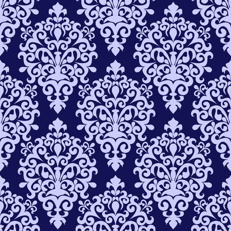 Seamless damask Wallpaper in blue Colors Illustration