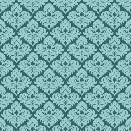 Damask seamlessl ornamental Wallpaper for design.