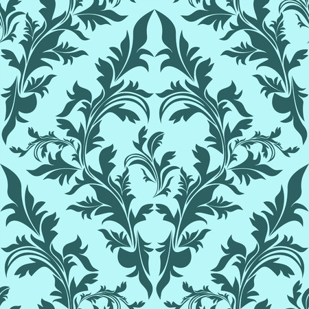 Blue seamless floral Ornament Иллюстрация