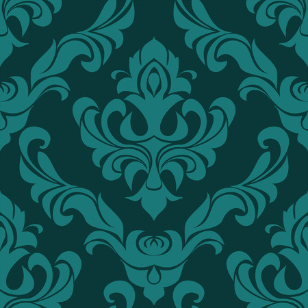 Turquoise seamless Ornament for Design.