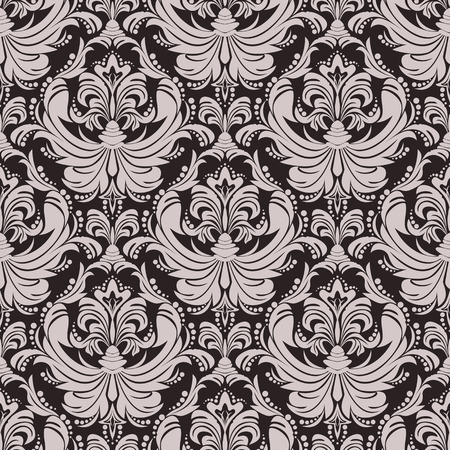 Seamless floral damask  Wallpaper for design Illustration