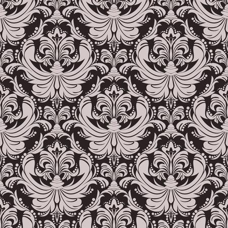 Seamless floral damask  Wallpaper for design Çizim