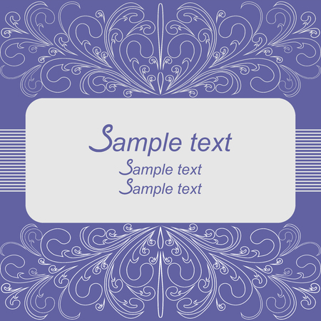 Elegant Background with floral Borders and Place for Text - Invitation design.