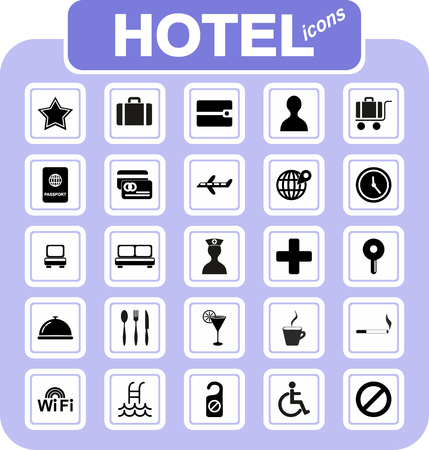 Original hotel icons - vector set