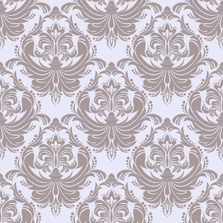 Seamless retro damask Wallpaper for Design Çizim