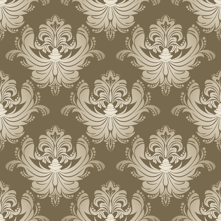 Luxury silver seamless floral Wallpaper for Dessign. Illustration