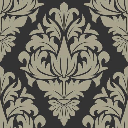 Seamless damask Ornament for Design Çizim