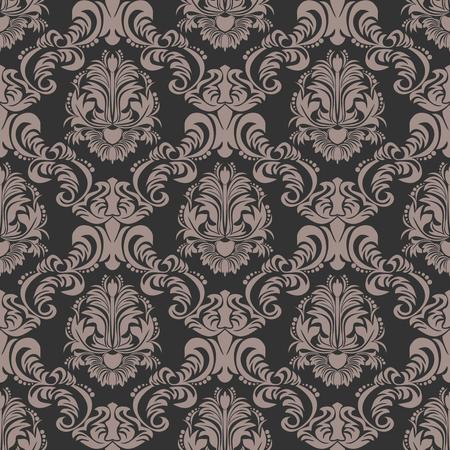 Rich ornamental damask Wallpaper for Design Çizim