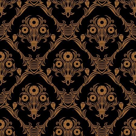 Seamless ornate damask flower Wallpaper for design.