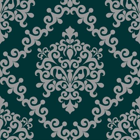 Floral seamless swirly ornate Ornament