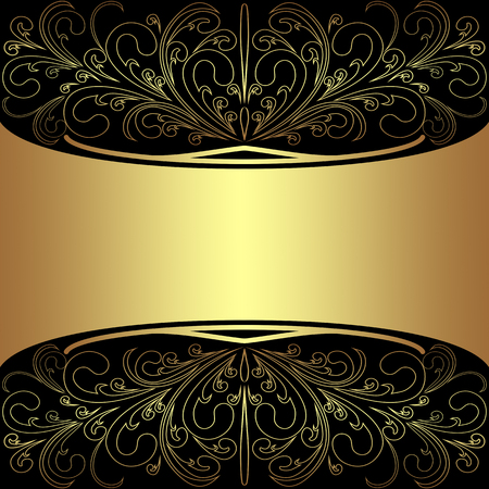 Luxury Background with elegant golden Borders and Place for Text - Invitation design
