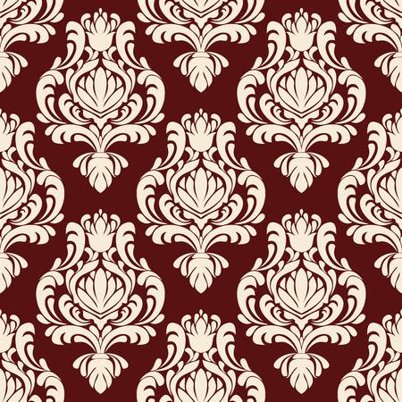 Rich ornamental damask Wallpaper for design