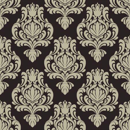 Seamless vintage damask Wallpaper for Design