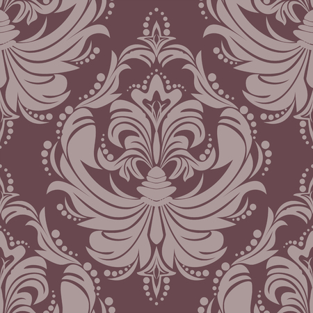 Seamlees damask floral Ornament for design