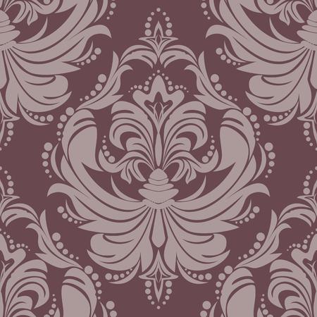 Seamlees damask floral Ornament for design