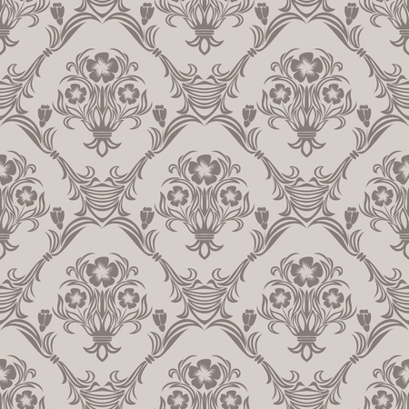 Seamless floral Wallpaper in Retro Style