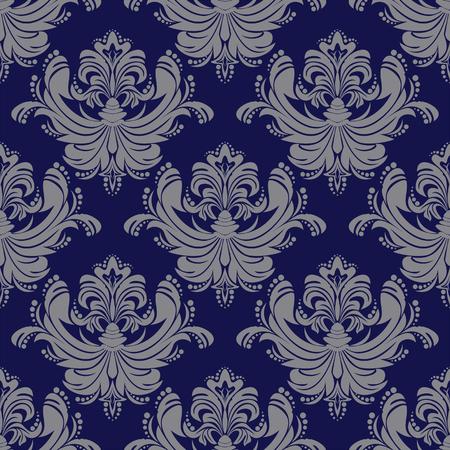 Seamless ornate damask Wallpaper.