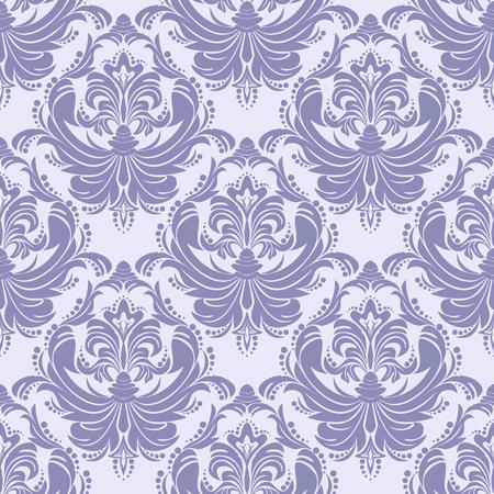 Seamless blue retro damask Wallpaper for Design Çizim