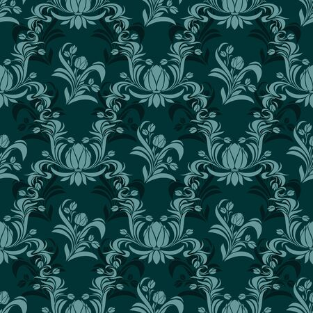 Rich damask seamless ornamental Wallpaper