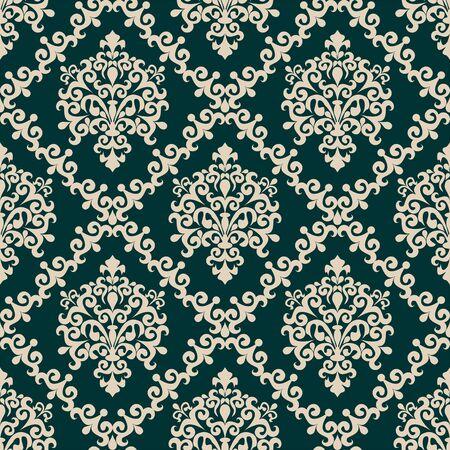 Seamless damask floral Wallpaper for Design  Banque d'images