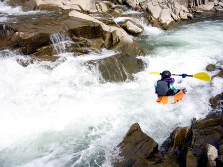 rafter: whitewater rafter back