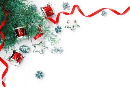 Christmas Decorations kader. Niet geïsoleerd. Met Copyspace