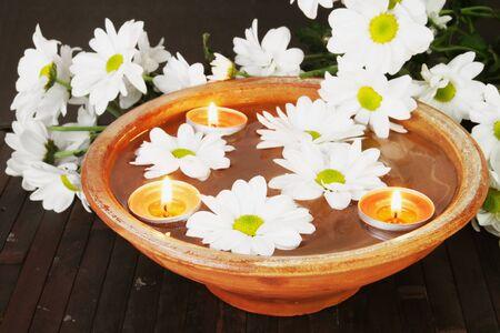 aroma bowl: Aroma Bowl for Aromatherapy Stock Photo