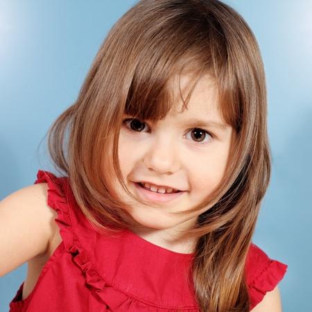 only girls: Little Child Smiling Girl Portrait Studio Shot