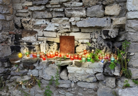 residents: Prayer Place Made by Local Residents in Ukraine