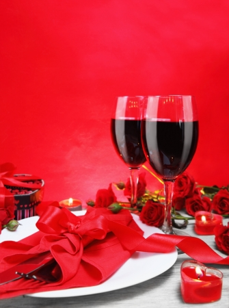 Romantic Candlelight Dinner for Two Lovers Vertical photo