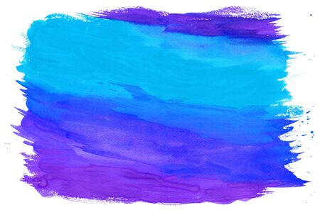 purple abstract background: Gouache Painting Textured Background Blue and Purple